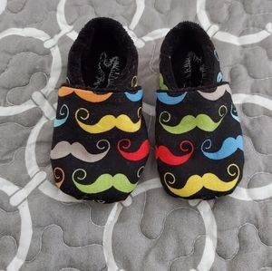 Baby Slippers Mustach Print